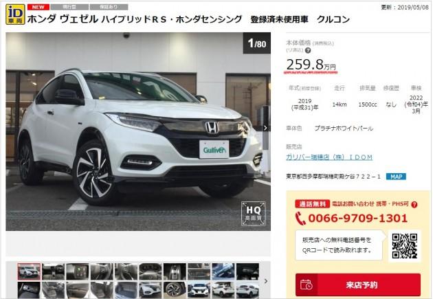 未使用車と新車の価格差