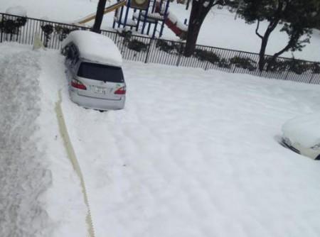 車に積もった雪の落とし方