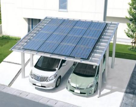 駐車場屋根太陽光発電